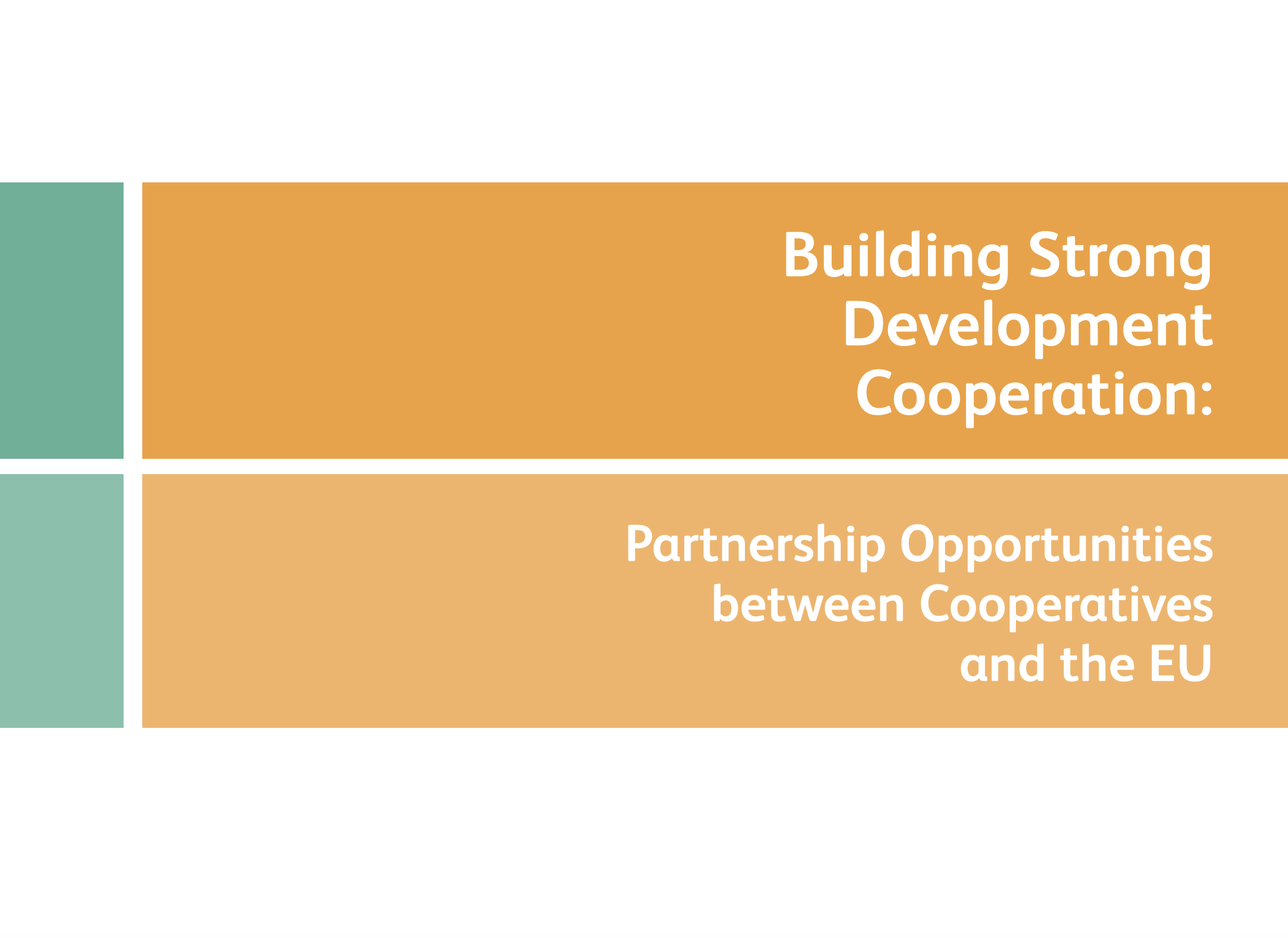 building strong development cooperation